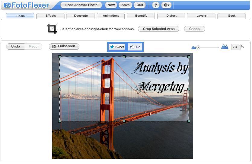 Screenshot FotoFlexer
